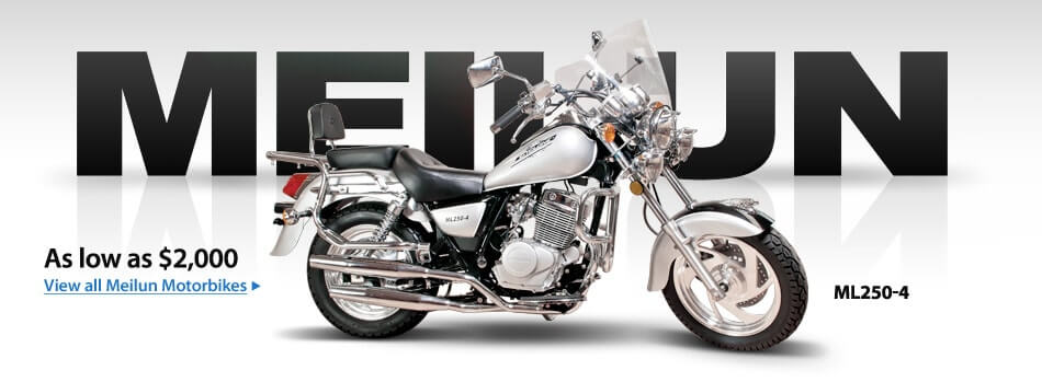 Motorcylces as low as $2000. View All Meilun Motorcylces »