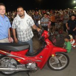 GRAND PRIZE! Winner of ML100 Meilun Motorcycle in raffle.