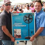 Winner of Lasko standing fan in raffle.