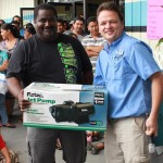 Winner of Flotec water pump in raffle.