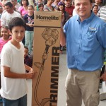Winner of Homelite trimmer in raffle.