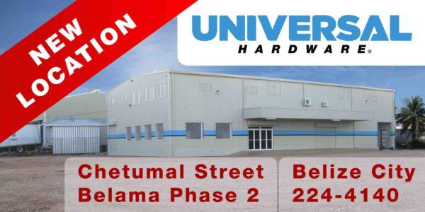 Universal Hardware, 3380 Chetumal Street, Belama Phase 2, Belize City